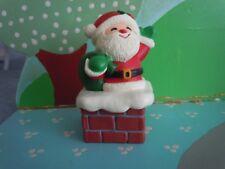 Hallmark Merry Miniature Container Santa On Chimney Base 1984 Xha3451