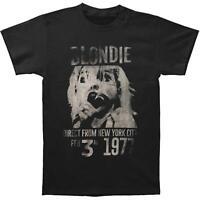 Fashion Blondie Men's 1977 Music Casual T-Shirt Black t shirts