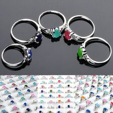 5 Pcs Wholesale Mixed Lots Jewelry Crystal Stainless Steel Women's Rings New Hot