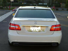 W212 E250 E350 Sedan Painted E63AMG Look Trunk Spoiler + OE Type Roof Lip 10-14