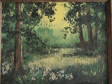 VTG Oil /Canvas Painting ''Highland Park,NJ'' by Edward Warnagiris (1933 -1989)