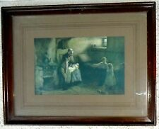ARTIST SIGNED ANTIQUE FRAMED PICTURE ART MOTHER / GRANDMOTHER BABY CHILDREN