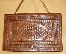 Vintage Ladies Hand Tooled Leather Hand Bag