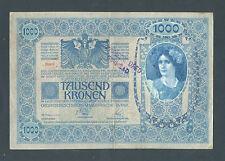 YUGOSLAVIA  1000 Kronen ND(1919 - od 1902) VF Handst. NOVI SAD  (city in Serbia)