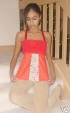 DiY Hippie Patchwork Red Hearts  Apron Top Size Small