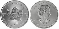 (LOT OF 100) 1 OUNCE SOLID DATE SILVER CANADIAN MAPLE LEAF COINS .9999 1oz.
