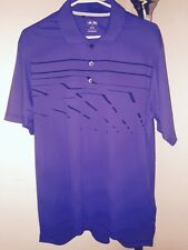 Men's Adidas Purple w/Black Graphic Golf Polo Size Medium Underarm Venting