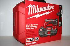New Milwaukee 2429-21XC M12 12V Cordless Sub-Compact Band Saw Kit 2429-20