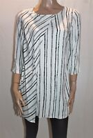 TARGET Brand Black White Striped 3/4 Sleeve Tunic Top Size 10 BNWT #TG39