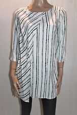 TARGET Brand Black White Striped 3/4 Sleeve Tunic Top Size 10 BNWT #TG39