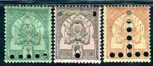 TUNISIE PORTO 1888 Yvert TT 3,5,6 * 190€(D9036