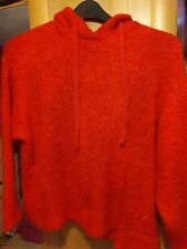 Marks and spencer Red Wool Hoodied Jumper Large