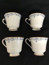 Royal Doulton Josephine Teacups 4 Each Blue Ivory Gold