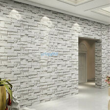Retro Vintage 3d Brick Stone Textured Art Wall Paper Roll Backgroud Kitchen Room