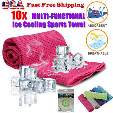 10Pack Ice Cold Instant Cooling Towel Running Jogging Gym Chilly Pad Sports Yoga