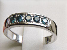 Blue Band White Gold Fine Rings
