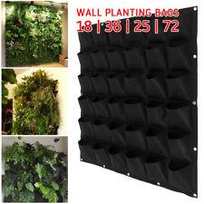 18/36 Pockets Vertical Garden Wall Planter Hanging Planting Bag For Herbs AUS🔥