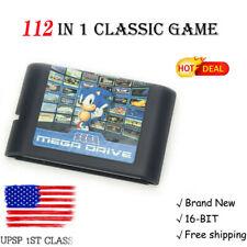 112 in 1 For Sega 16-Bit Megadrive Genesis Game Cartridge Classic Entertainment