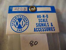 NJ International inc, N, scale 3 lite signalall brass # 4203, NEW, old stock