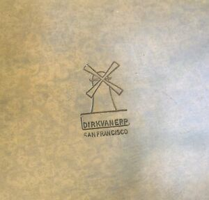 Dirk Van Erp Hammered Copper Plate Charger Arts Crafts Era