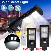 80/150W 240LED Solar Straßenlaterne Straßenbeleuchtung mit Bewegungsmelder Timer
