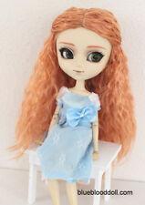 """1/3 bjd 9-10"""" peach color braid curly doll wig Pullip Taeyang Soom ID Feeple"""