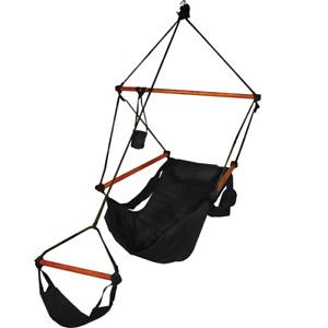 Hammaka Hammaka Hammocks Original Hanging Air Chair In Jet Black