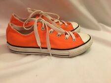 Converse All Star Neon Orange Trainers Size UK 1.5