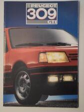 Peugeot 309 GTI Orig 1987 Swiss Mkt folleto de ventas depliant con texto en francés