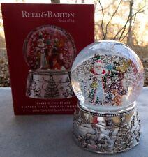 REED & BARTON Vintage Santa Musical Snowglobe Snow Globe Snowdome NIB