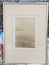 "SIGNED Framed Etching ""Akenfield"" Paul Higgins Artists Proof 1977"