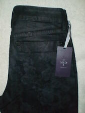 Not Your Daughters Jeans NYDJ Womens Black Floral Legging Size 2 X 30.5 New $120