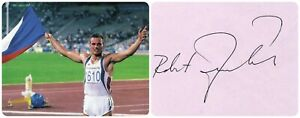 1992 Barcelona Olympics T&F Decathlon Gold ROBERT ZMELIK Orig  Autograph 1990s