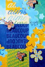 5 Cartes postales Bretagne art naïf pop carte 10x15 breton déco mer E. Cudennec