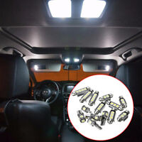 14x Interior LED Light Kit White Universal Car License Trunk Lamps Easy Install