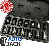 Air Impact Wrench Socket Set 13 Piece 1/2 Square Drive Sq Dr Metric 10 - 24mm