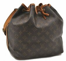 Authentic Louis Vuitton Monogram Petit Noe Shoulder Bag M42226 LV A7578