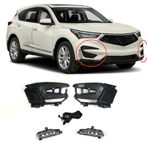 L&R LED DRL Daytime Running Light Front Fog Lights Cover For Acura RDX 2019-2021
