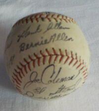 Vintage Baseball 1971 Rfk Stadium Sold Team Signed Fascimile Autograph Baseball