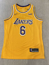 Los Angeles Lakers #6 Lebron James Jersey Mens Size Medium