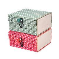 Wholesale Bamboo Wooden Jewelry Organizer Storage Box Strap Craft Case FT