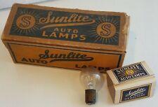 Vintage SUNLITE Auto Lamps Automobile Light Bulb Full Box Advertising Bulbs old