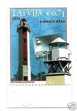 lighthouse Latvia 2014 LETTLAND Lighthouses of Latvian - Ainazi lighthouse MNH
