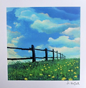 """DAVID NAJAR """"FENCE LINE"""" SERIOLITHOGRAPH~PARK WEST GALLERY Certificate Authentic"""