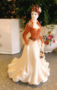 """COALPORT Figurine   """" Autumn """"   21cm or 8.25 inches High   Excellent Condition."""