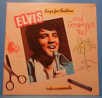 ELVIS PRESLEY SINGS FOR CHILDREN & GROWNUPS TOO! 1978 GREAT CONDITION! VG+/VG+!!
