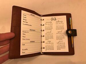 Fits Louis Vuitton Small Agenda Planner: Choose Calendar -Inserts -Paper-Pouches