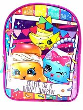 "New Moose 15"" Shopkins Blue and Pink Selfie Cordura Glossy Backpack"