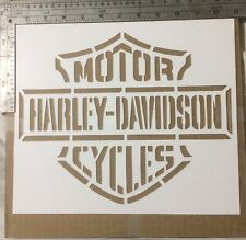 "Harley Davidson Stencil Cardstock 110lb weight 11 1/2""x11 1/2"" Approximately"