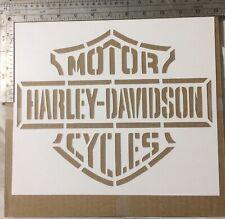Harley Davidson Street Art Stencil Large Cardstock